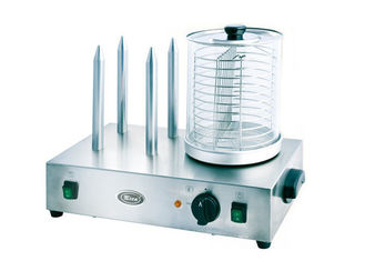 China Snack Bar Equipment Electric Hotdog Machine With Heating Spike 220V - 240V supplier