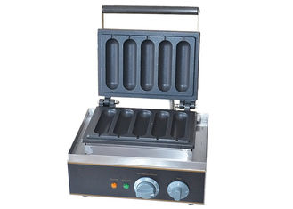 China Electric Grilled Hot Dog Waffle Machine For Snack Bar 220V 1550W supplier