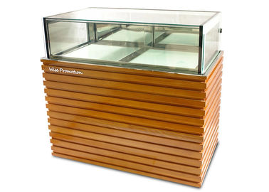 China Wood / Stainless Steel Base Glass Cake Refrigerator Showcase / Pastry Display Cabinet supplier