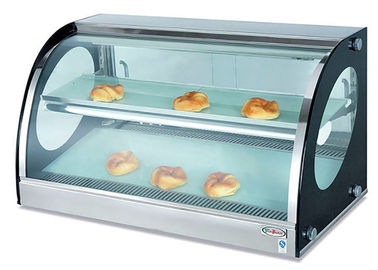 China Counter Top Bread Display Cabinet Food Warmer Showcase Electric Heating 40-85°C supplier