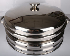 China Hydraulic Round Stainless Steel Cookware / Rotating Roll Top Chafing Dish supplier