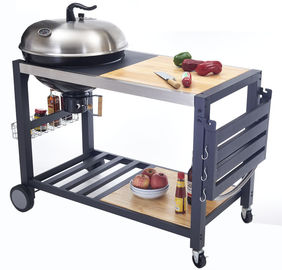 China Outside Commercial Kitchen Equipments Charcoal BBQ Grill With Cabinet And Table supplier
