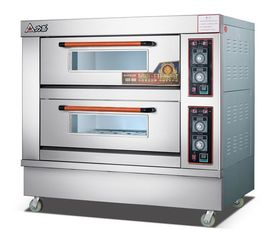 China Electric Commercial Bread Baking Oven , Auto - thermostat Pizza Bakery Kitchen Oven supplier