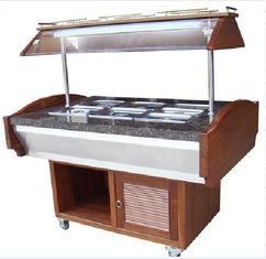 China Salad Buffet Commercial Buffet Equipment With Marble Stone Base NN-SB 1400 supplier