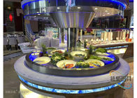 Blue Led Display Restaurant Buffet Counter / Commercial Buffet Serving Tables