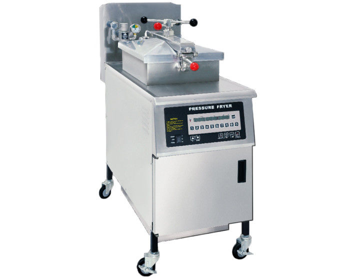 Automatic Chicken Pressure Fryer / Commercial Chips Kitchen Equipment