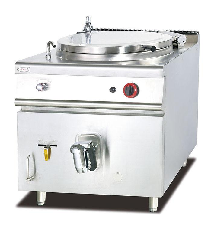Gas Soup Kettle Western Kitchen Equipment 100L Capacity Soup Boiling Pan