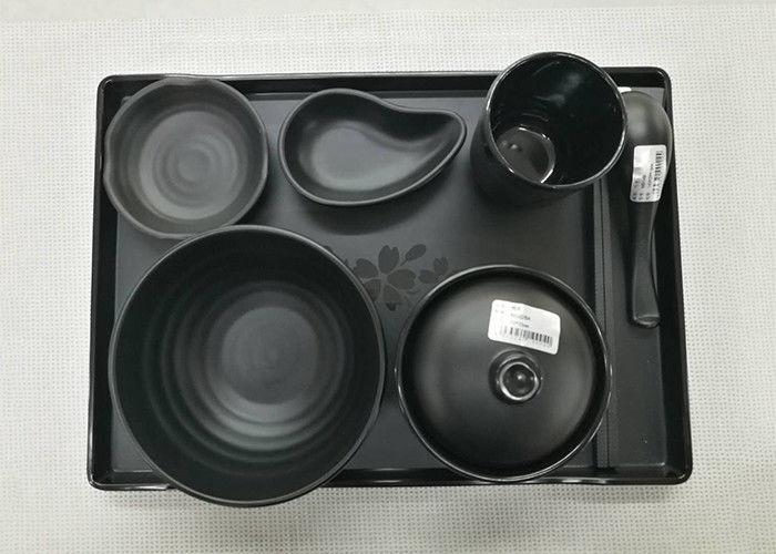 Imitation Porcelain Dinnerware Sets Japanese And Korea Series Tableware Black Melamine & Imitation Porcelain Dinnerware Sets Japanese And Korea Series ...