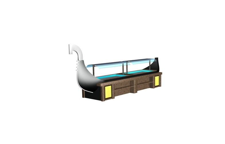 Swan Wood 660L Sushi Bar Counter 5500x1200x2300mm , Catering Kitchen ...