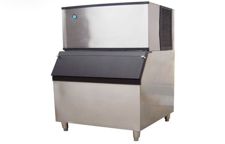 Stainless steel ice cube making machine with plastic board for Food bar press machine