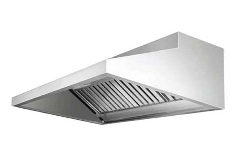 EH 115 Silver Commercial Stainless Steel Exhaust Hood With Filter For  Kitchen