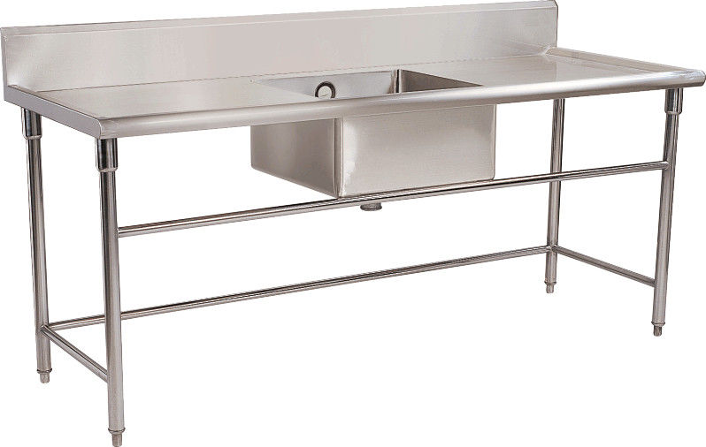 commercial kitchen work bench gridmann stainless steel prep table w backsplash 30 x 24 restaurant stainle