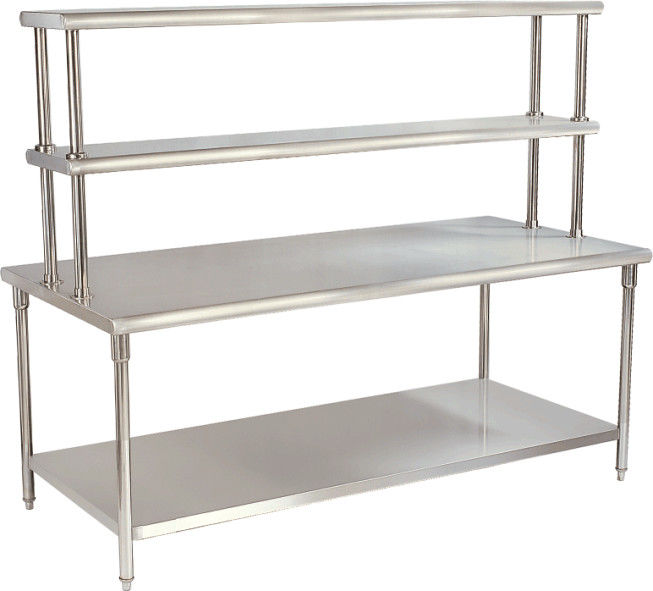 Kitchen Yx H30 2 Stainless Steel Catering Equipment Work Table With Top Rack