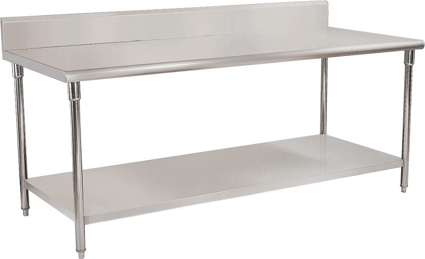 Customized Double Layer Stainless Steel Work Table M With MDF - Large stainless steel work table