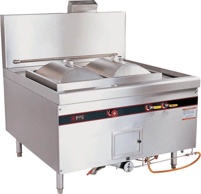 Burner Type 220V LPG Gas Rice Roll Steamer 370W Chinese