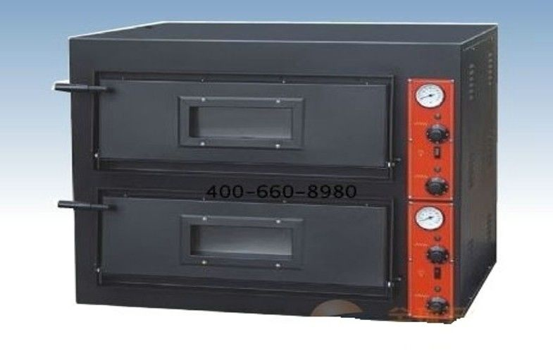Black Painting Electric Commercial Pizza Oven With 2 Layer