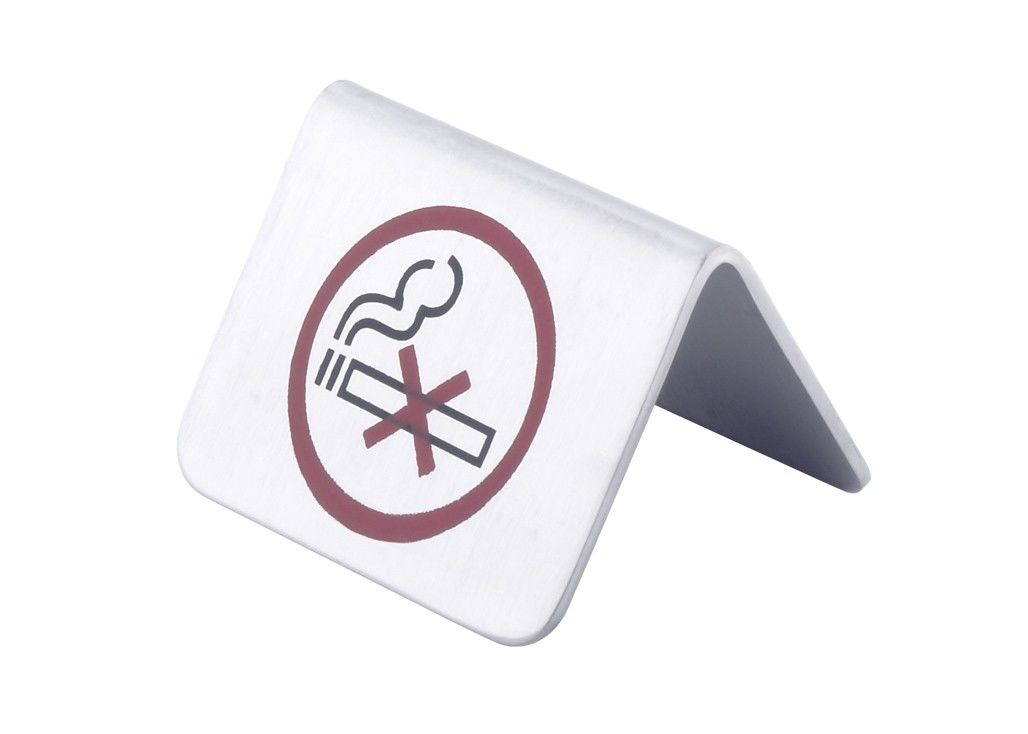 "SS Stackable Table Tent Signs /  "" Smoking Area "" "" No Smoking "" Symbol Room Service Indicator"