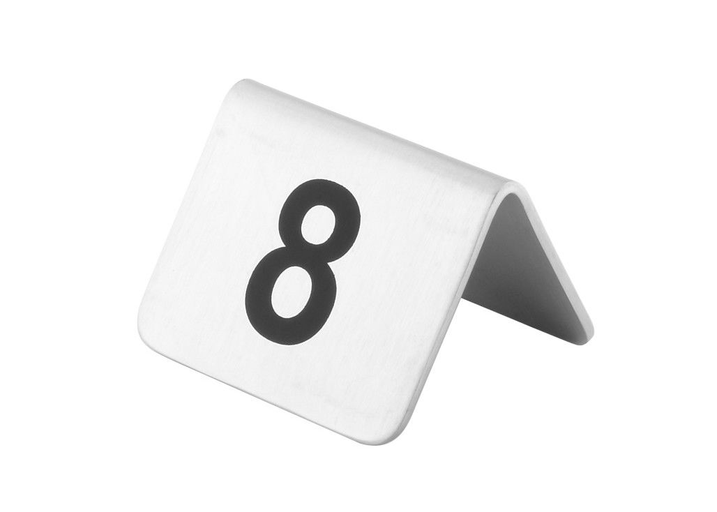 Stainless Steel Reserved Table Number Stands In English Or Chinese - Stainless steel table numbers