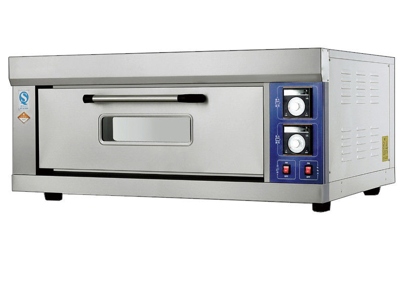 1 Deck Far Infrared Electric Baking Ovens Stainless Steel Tempered