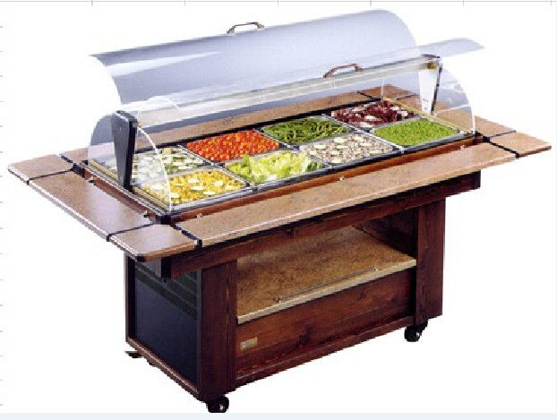 NN SO1420 Salad Bar Commercial Buffet Equipment With Wheel For Convenient Moving