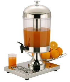 China 8 Liters Single Juice Dispenser , Stainless Steel Cookware For Cafeteria factory