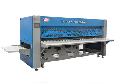 China Automatic Folding Machine Hotel Laundry Equipments PLC Control System distributor