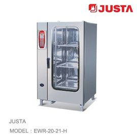 China JUSTA Electric Baking Ovens 20-Tray 40-Pan Combi Steamer Computer Control System distributor