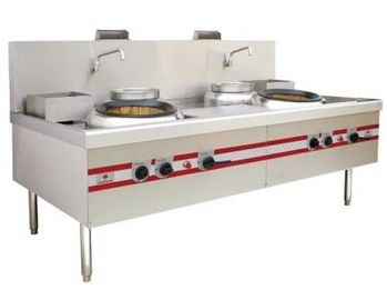 China 2 Burner Range Commercial Gas Stove For Home Chinese Big Wok Type factory