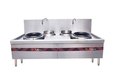 China Double Burner Chinese Cooking Stove / Commercial Gas Cooking Stoves factory