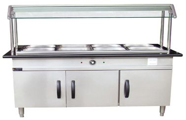 China Modern Stainless Steel Cabinet Hot Food Cabinet 100L With Marble For Seafood distributor