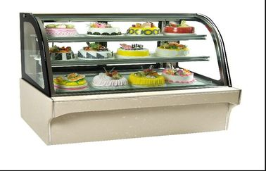 Glass Door Food Warmer Showcase 3 , Upright Cake Cooling Showcase For Bar