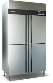 China Double Temperature Commercial Refrigerator Freezer With 4 Doors For Restaurant distributor