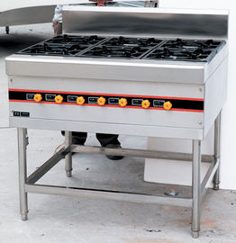 Stainless Steel Floor Burner Cooking Range BGRL-1280 For Commercial Kitchen