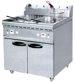 JUSTA 40L Electric Two Tank Deep Fryer With Cabinet ZH-RCX2 Western Kitchen Equipment