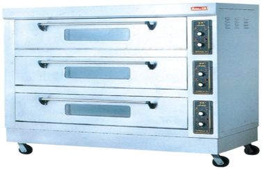 Kitchen Stainless Steel Electric Baking Ovens 18KW With 3-layer 4tray FDX-36BQ
