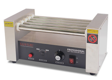 Commercial Hot Dog Roller Grills , Stainless Steel 5 Rollers Sausage Grill Machine