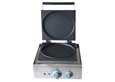 China Single Round Cake Donut Maker, Electric Crepe Waffle Making Machine Snack Bar Equipment factory