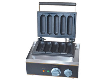 China Electric Grilled Hot Dog Waffle Machine For Snack Bar 220V 1550W factory