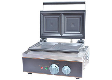 China Stainless Steel Electric Sandwich Waffle Maker Sandwich Press 1550W/220~240V, Snack Bar Equipment factory