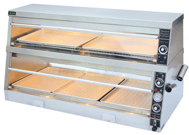 380V/4.2KW Food Warmer Showcase Individual Thermostatic Control 1520x750x840mm