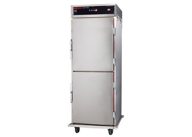 1.8KW Standing Food Warmer Cart Double Doors Holding Cabinet 50℃ - 99℃