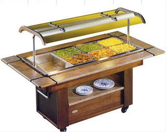 NN-EBM1420 Salad Buffet Commercial Buffet Equipment Marble Stone Base