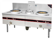 Stainless Steel Commercial Gas Cooking Stoves With 2 Burners 1 Spare Water Pot
