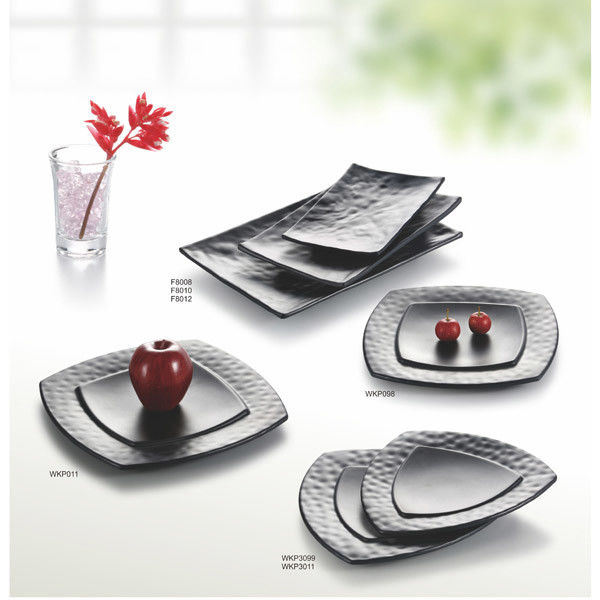 Etonnant China Porcelain Dinnerware Sets / Melamine Black Matte Dinner Set Plate  Unique Shape Supplier