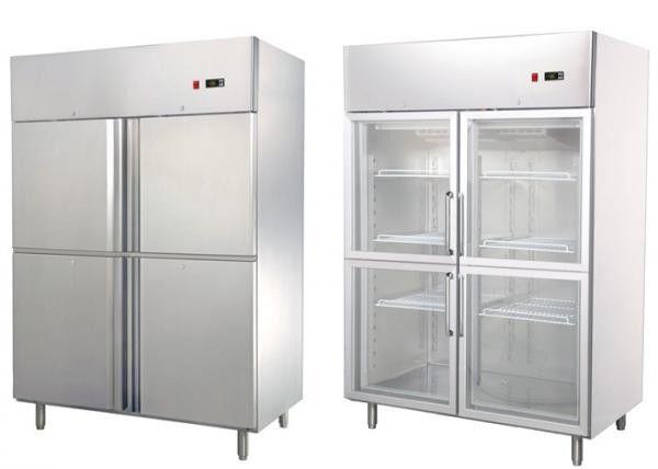 2 Door Commercial Kitchen Refrigerator Freezer Equipment CE Approved