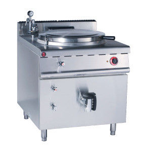 JUSTA Gas Indirect Jacketed Boiling Pan Commercial Kitchen Equipments , Soup Cooker Machine