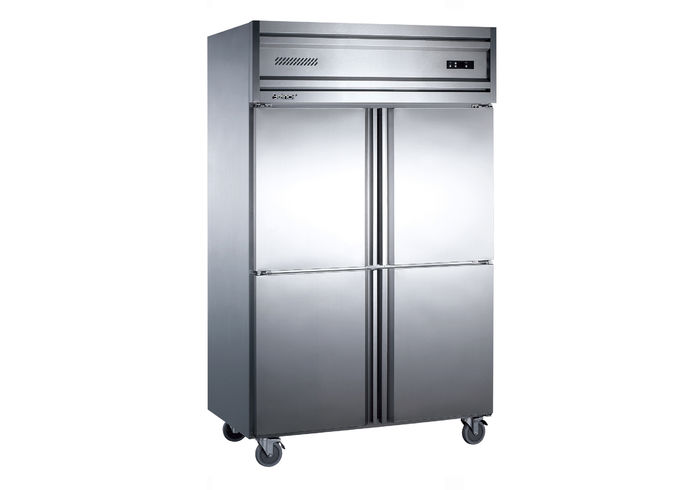 China Vertical Stainless Steel Four Door Freezer Commercial Refrigerator  Freezer Supplier