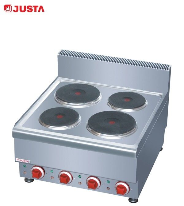 China JUSTA Counter Top Electric Hot Plate Cooker Kitchen Equipment 600*650*