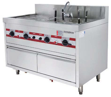 Gas Pasta Boiler Noodle Chinese Cooking Stove 1200 x 750 x (850+150)mm