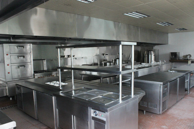 Stainless Steel Square Exhaust Hood with Lighting European Style 2900*1150*600mm